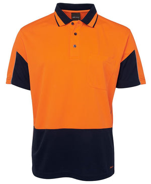 JB's Wear-JB's Hi Vis  S/S Gap Polo-Orange/Navy / XS-Uniform Wholesalers - 3