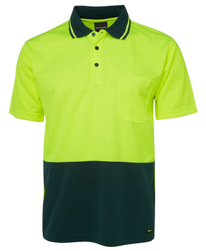JB's Wear-JB's Adults Hi Vis  Non Cuff Traditional Polo 1st (11 colour)-Lime/Bottle / XS-Uniform Wholesalers - 4