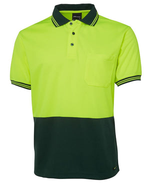 JB's Wear-Jb's Hi Vis Short Sleeve Traditional Polo - Adults-Lime/Bottle / XS-Uniform Wholesalers - 4