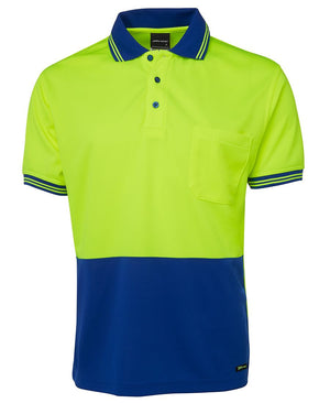 JB's Wear-Jb's Hi Vis Short Sleeve Traditional Polo - Adults-Lime/Royal / XS-Uniform Wholesalers - 8