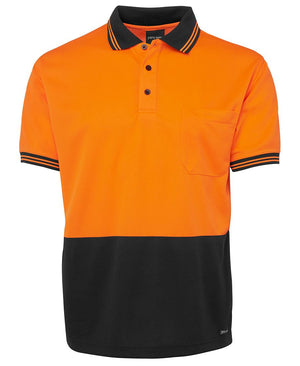 JB's Wear-Jb's Hi Vis Short Sleeve Traditional Polo - Adults-Orange/Black / XS-Uniform Wholesalers - 9
