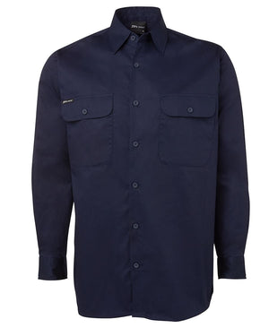 JB's Wear-Jb's Long Sleeve 150g Work Shirt-Navy / S-Uniform Wholesalers - 2