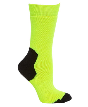 JB's Wear-JB's Acrylic Work Sock (3 Pack)-Lime/Black / King-Uniform Wholesalers - 3