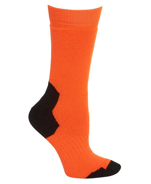 JB's Wear-JB's Acrylic Work Sock (3 Pack)-Orange/Black / King-Uniform Wholesalers - 5
