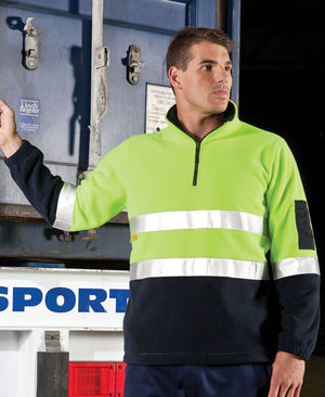 JB's Wear-JB's Hi Vis (D+N) 1/2 Zip Polar Fleece--Uniform Wholesalers - 1