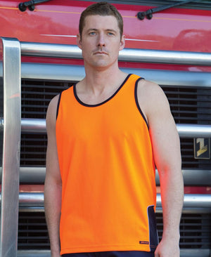 JB's Wear-JB's Hi Vis Contrast Singlet - Adults--Uniform Wholesalers - 1