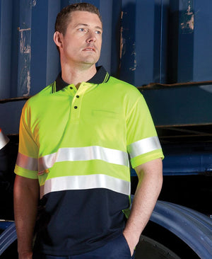 JB's Wear-Jb's Hi Vis Short Sleeve (d+n) Traditional Polo - Adults--Uniform Wholesalers - 1
