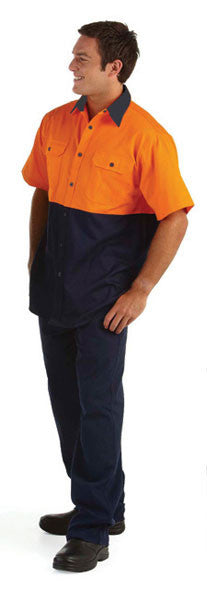 JB's Wear-Jb's Hi Vis Short Sleeve 150g Shirt - Adults--Uniform Wholesalers - 3