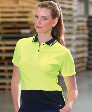JB's Wear-Jb's Ladies Hi Vis Short Sleeve Comfort Polo--Uniform Wholesalers - 1