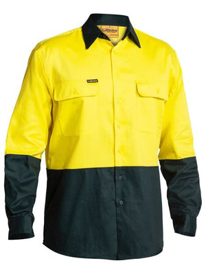 Bisley 2 Tone Hi Vis Drill Shirt - Long Sleeve (BS6267)