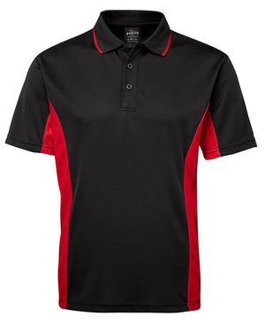 JB's Wear-JB's Podium Contrast Polo Adult(1st 12 colours)-Black/Red / S-Uniform Wholesalers - 2
