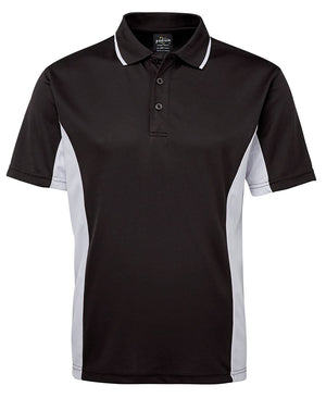 JB's Wear-JB's Podium Contrast Polo Adult(1st 12 colours)-Black/White / S-Uniform Wholesalers - 3