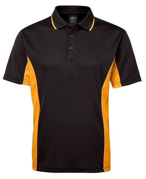 JB's Wear-JB's Podium Contrast Polo Adult(1st 12 colours)-Black/Gold / S-Uniform Wholesalers - 4