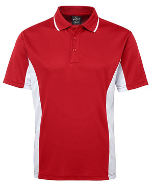 JB's Wear-JB's Podium Contrast Polo Adult(1st 12 colours)-Red/White / S-Uniform Wholesalers - 5