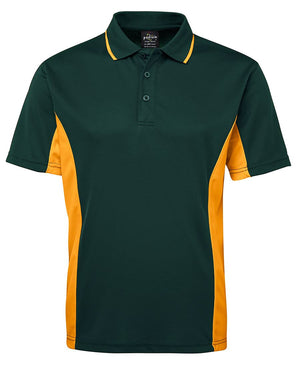 JB's Wear-JB's Podium Contrast Polo Adult(1st 12 colours)-Forest/Gold / S-Uniform Wholesalers - 6