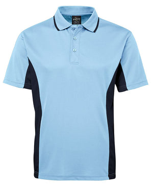 JB's Wear-JB's Podium Contrast Polo Adult(1st 12 colours)-Light Blue/Navy / S-Uniform Wholesalers - 7