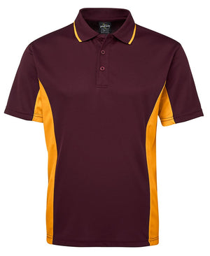JB's Wear-JB's Podium Contrast Polo Adult(1st 12 colours)-Maroon/Gold / S-Uniform Wholesalers - 9