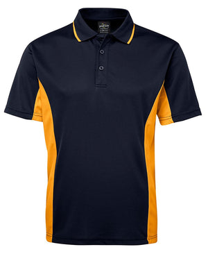 JB's Wear-JB's Podium Contrast Polo Adult(1st 12 colours)-Navy/Gold / S-Uniform Wholesalers - 12