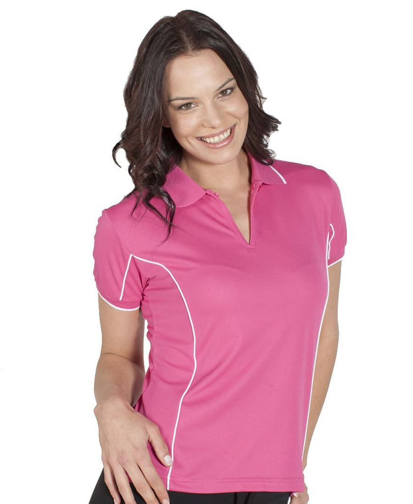 JB's Wear-JB's Podium Ladies Piping Polo 2nd (8 Colours)--Uniform Wholesalers - 1