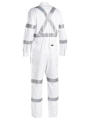 Bisley  3m Taped White Drill Coverall (BC6806T)