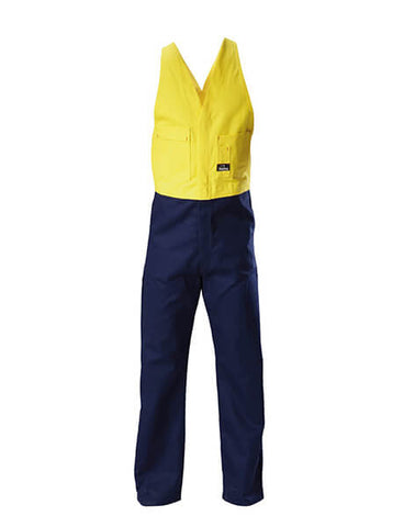 Hard Yakka  Hi-visibility Two Tone Cotton Drill Action Back Overall (Y01526)