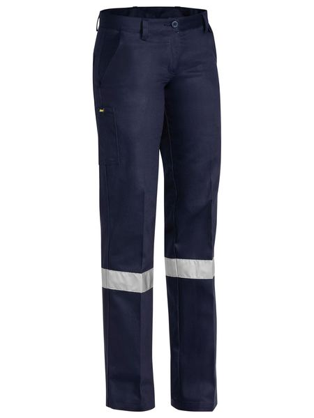 Bisley Ladies Drill Pant 3m Reflective Tape (BPL6007T)