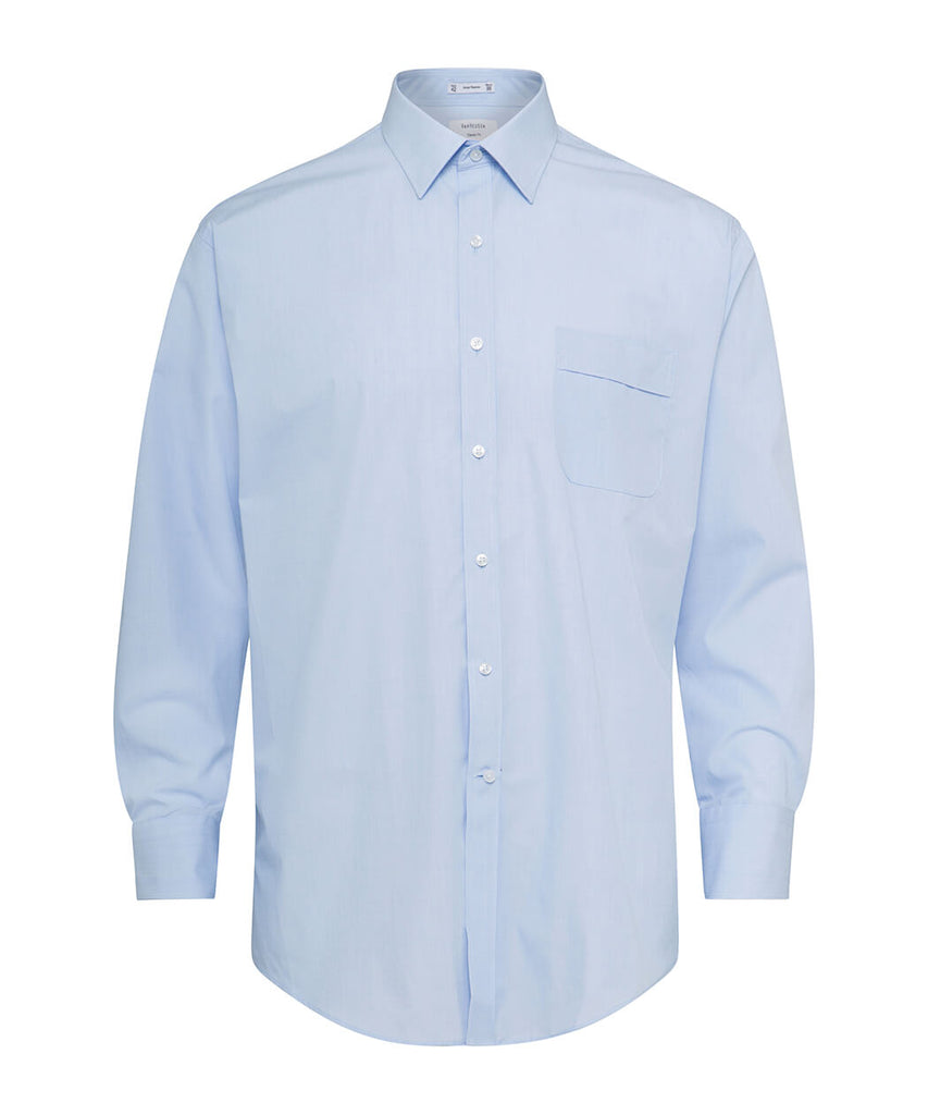 Van Heusen Men's Classic Relaxed Fit Shirt Polyester Cotton Yarn Dyed End On End Easy Care (A106)