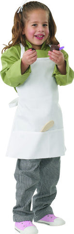Chef Works-Chef Works Kiddies Apron-47cm x 43cm / White-Uniform Wholesalers - 1