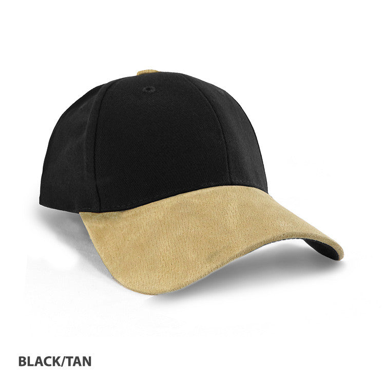 Grace Collection   Heavy Brushed Cotton Suede Peak Cap-(AH010/HE010)