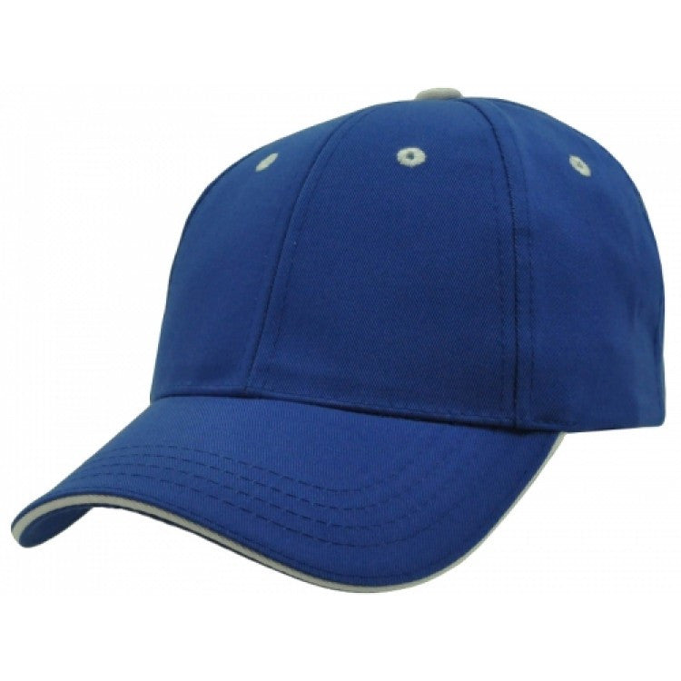 Grace Collection-Grace Collection Cotton Sandwich Cap-Royal/White / Free Size-Uniform Wholesalers - 2