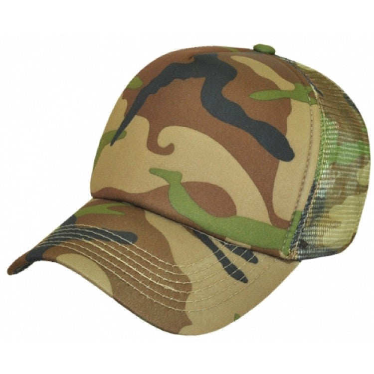 Grace Collection-Grace Collection Camouflage Trucker Cap-Army Green/Brown / Free Size-Uniform Wholesalers - 2