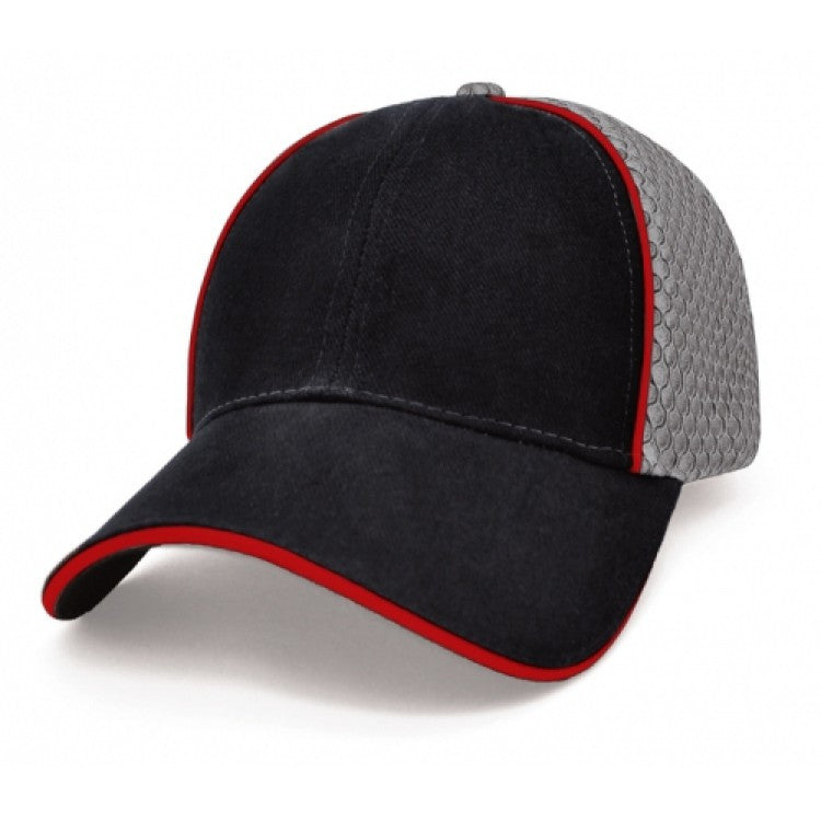 Grace Collection-Grace Collection Garret Cap-Black/Red/Grey / Free Size-Uniform Wholesalers - 2