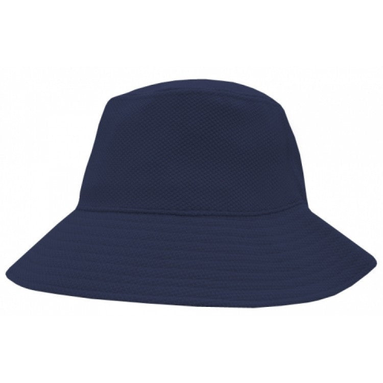 Grace Collection-Grace Collection PQ Mesh Bucket Hat-Navy / S/S-Uniform Wholesalers - 2