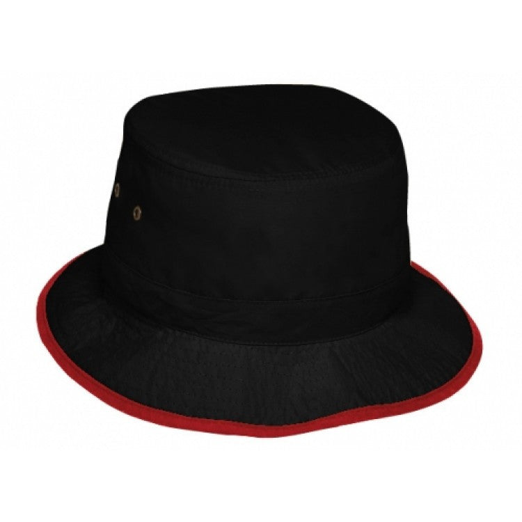 Grace Collection-Grace Collection Microfibre Bucket Hat-Black/Red / S/M-Uniform Wholesalers - 2