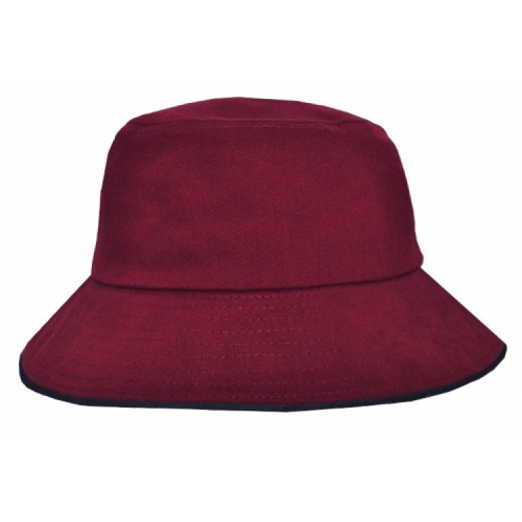 Grace Collection-Grace Collection Bucket Hat Sandwich Design-Black/Red / S/M-Uniform Wholesalers - 2
