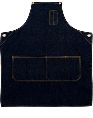 Winning Spirit East Village Denim Bib Apron (AP09)