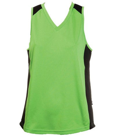 Australian Spirit-Aus Spirt Olympikool Ladies Singlet 1st ( 10 Colour )-Apple/Black / 8-Uniform Wholesalers - 2