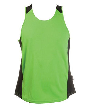 Australian Spirit-Aus Spirt Olympikool Mens Singlets 1st ( 10 Colour )-Apple Green / Black / M-Uniform Wholesalers - 2