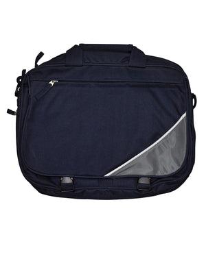 Winning Spirit-Winning Spirit Flap Satchel/ Shoulder Bag-Navy/White/Grey-Uniform Wholesalers - 2