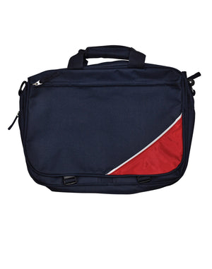Winning Spirit-Winning Spirit Flap Satchel/ Shoulder Bag-Navy/White/Red-Uniform Wholesalers - 3