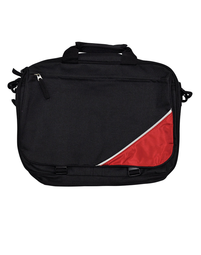 Winning Spirit-Winning Spirit Flap Satchel/ Shoulder Bag-Black/White/Red-Uniform Wholesalers - 1