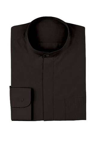 Chef Works-Chef Works Men's Black Banded Collar Shirt-3XL / Black-Uniform Wholesalers