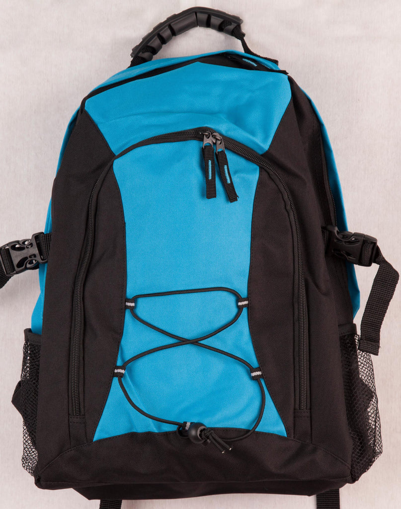 Winning Spirit-Winning Spirit Smartpack Backpack-Black/Aqua Blue-Uniform Wholesalers - 1
