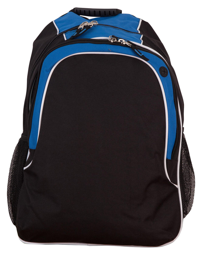 Winning Spirit-Winning Spirit Winner Backpack-Black/White/Aqua Blue-Uniform Wholesalers - 1