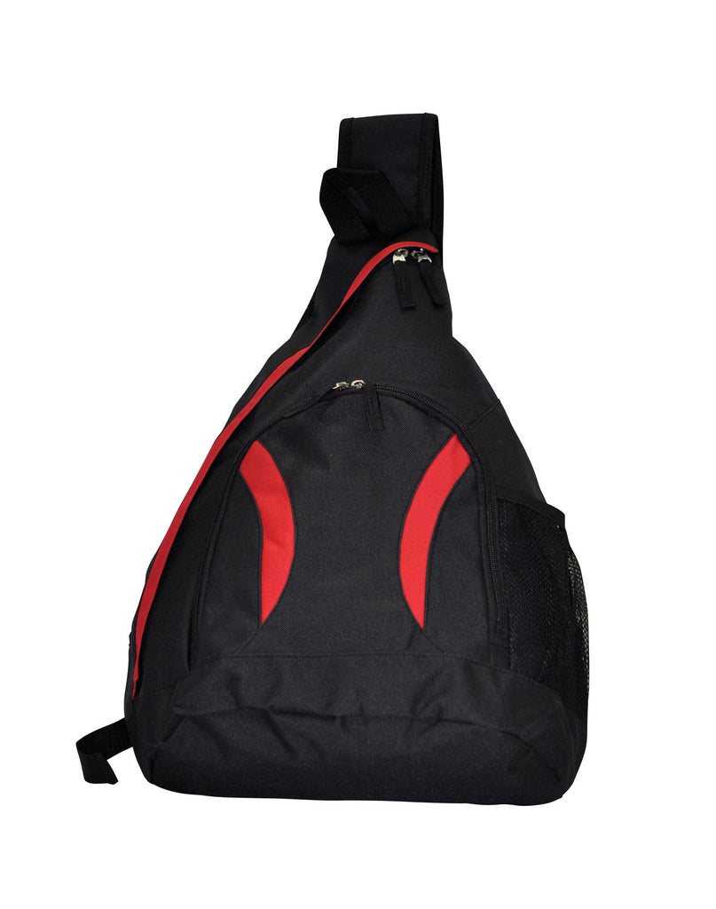 Winning Spirit-Winning Spirit Sling Backpack-Black/Red-Uniform Wholesalers - 1