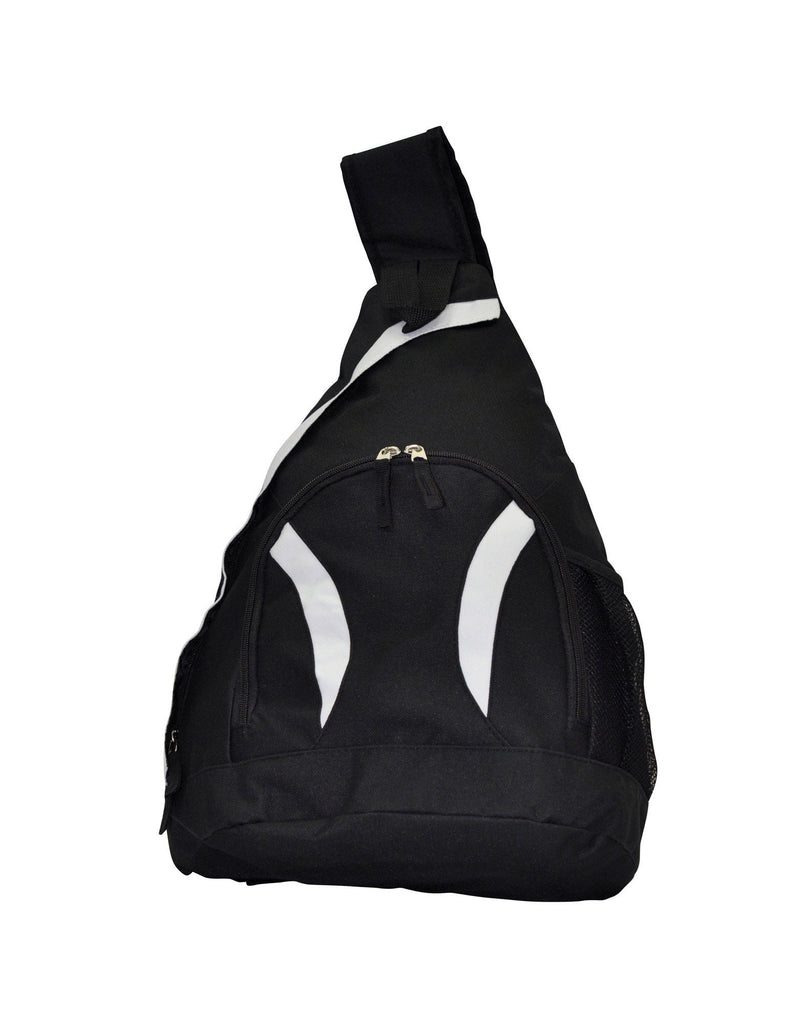 Winning Spirit-Winning Spirit Sling Backpack-Black/White-Uniform Wholesalers - 2