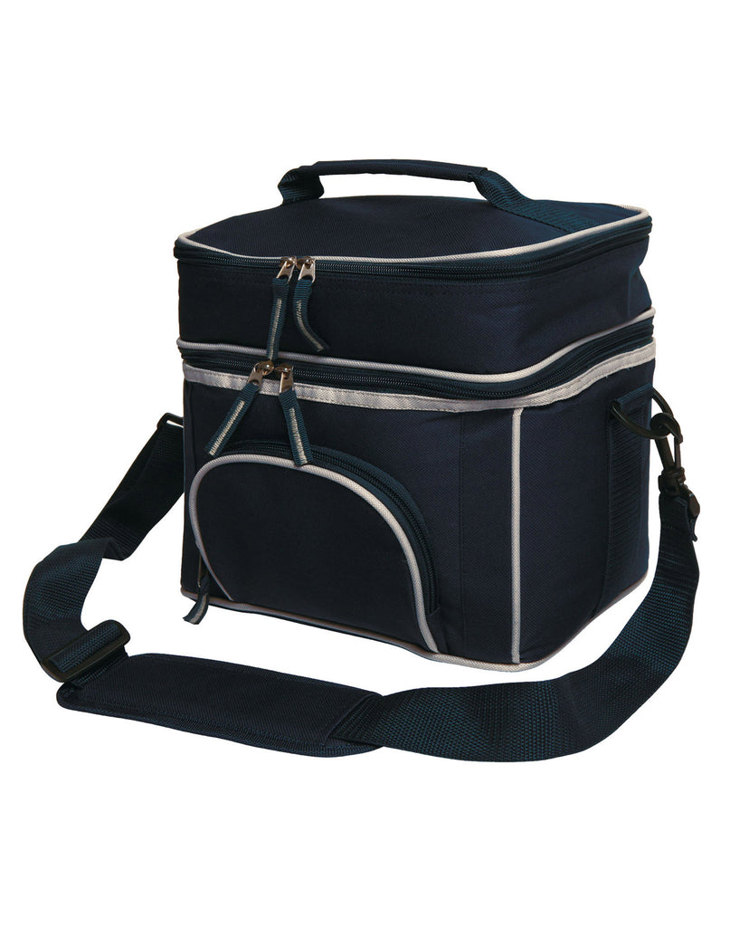 Winning Spirit-Winning Spirit 2 Layers Lunch Box/ Picnic Cooler Bag-Navy/Silver-Uniform Wholesalers - 2