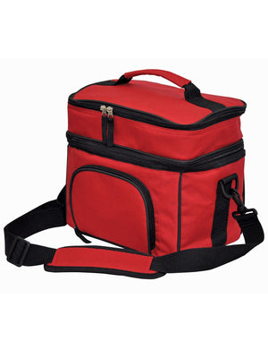 Winning Spirit-Winning Spirit 2 Layers Lunch Box/ Picnic Cooler Bag-Red/Black-Uniform Wholesalers - 3
