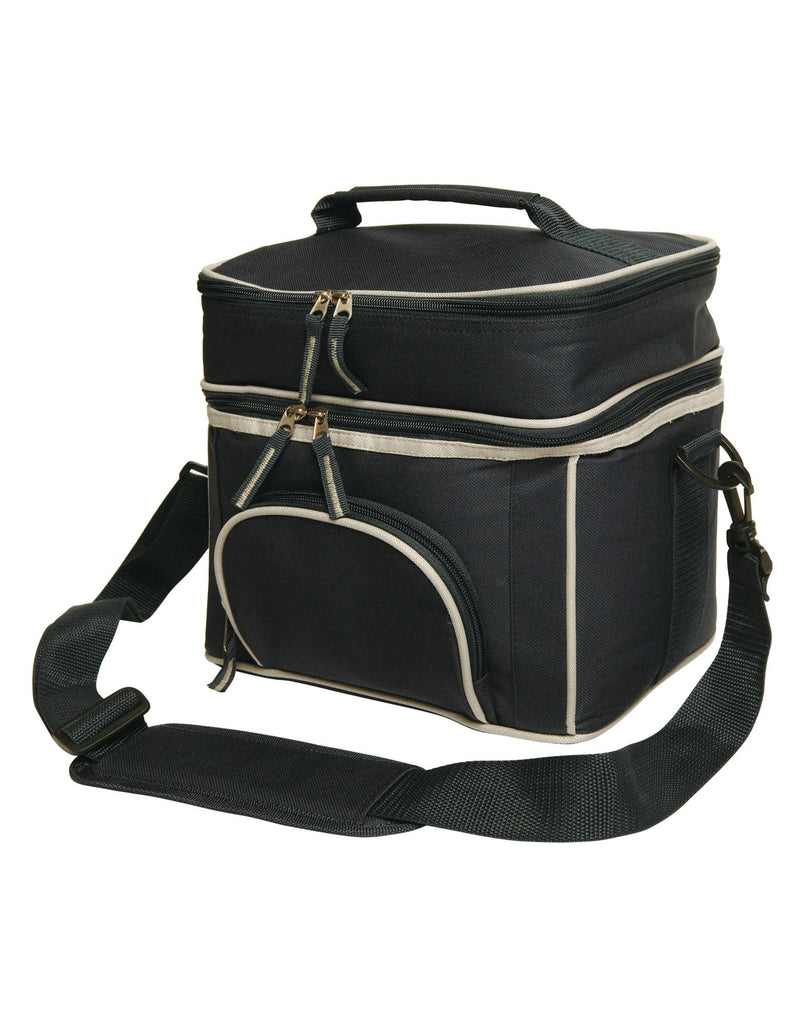 Winning Spirit-Winning Spirit 2 Layers Lunch Box/ Picnic Cooler Bag-Black/Silver-Uniform Wholesalers - 1