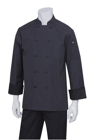 Chef Works-Chef Works Carlisle Executive Fine Stripe Jacket-XS / Black-Uniform Wholesalers - 1